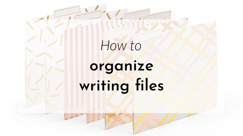 Banner: How to organize writing files