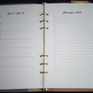 Binder planner weekly spread