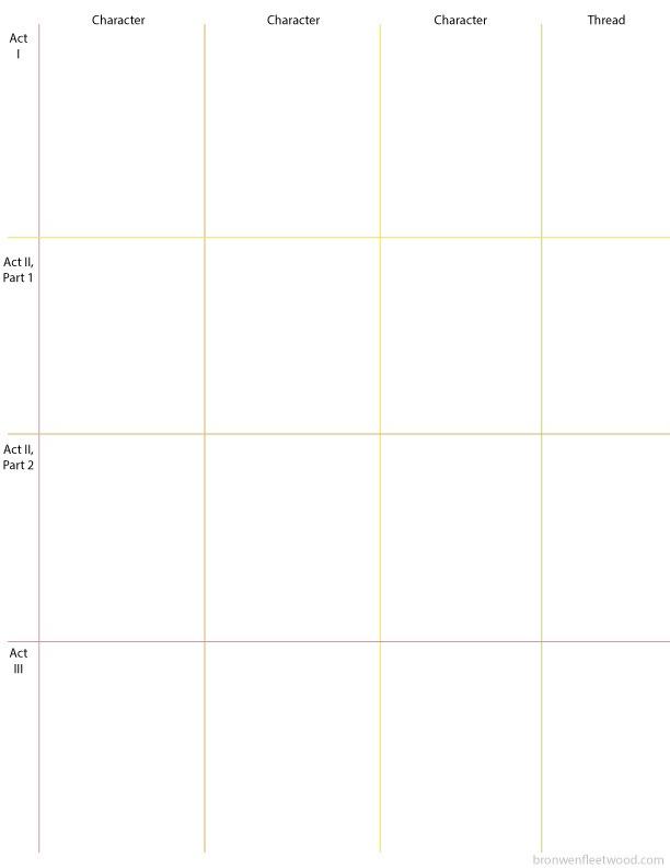 Plain outline grid without novel events