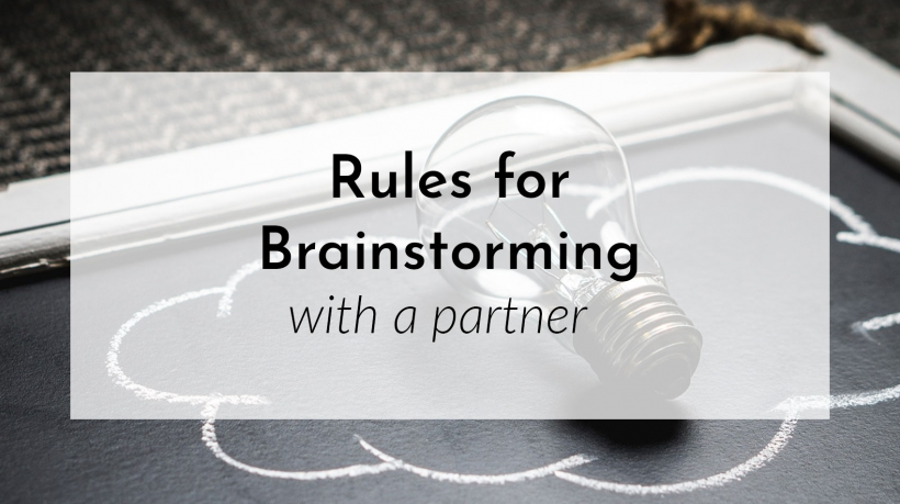 Banner: Rules for brainstorming with a partner