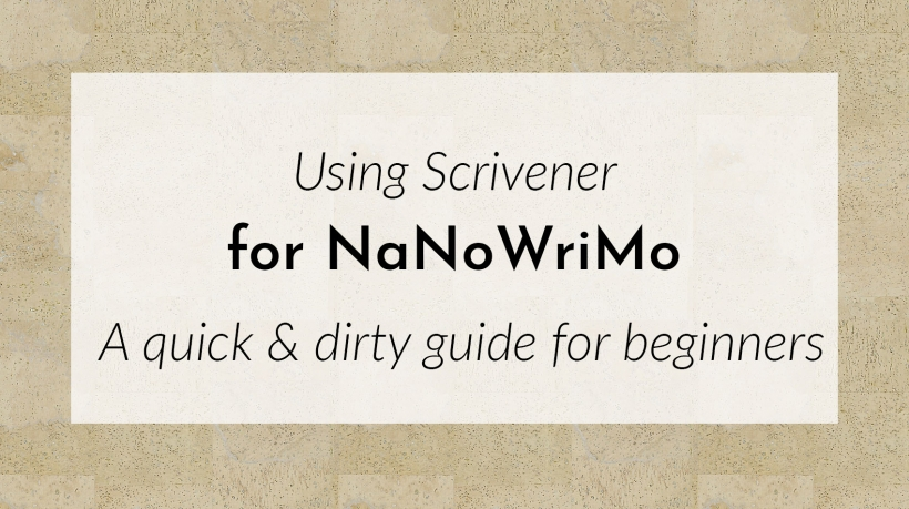 Banner: Using Scrivener for NaNoWriMo