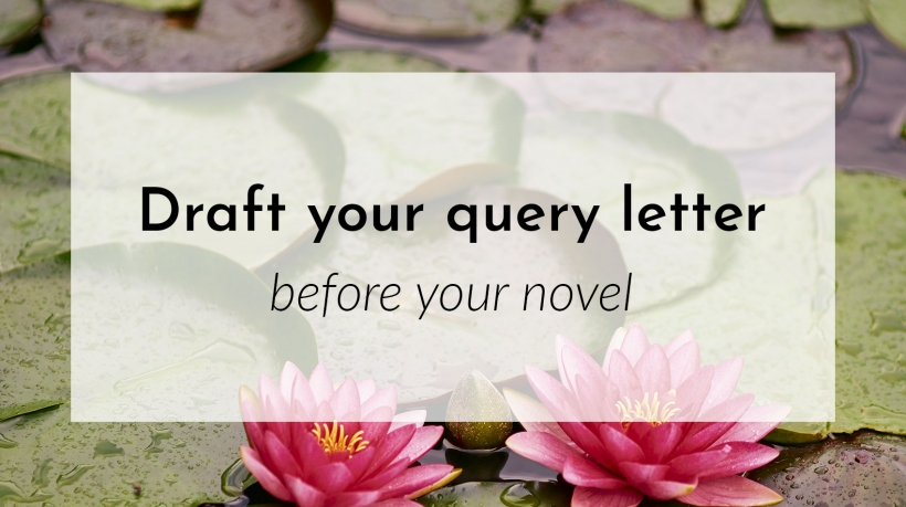 Draft your query letter before your novel