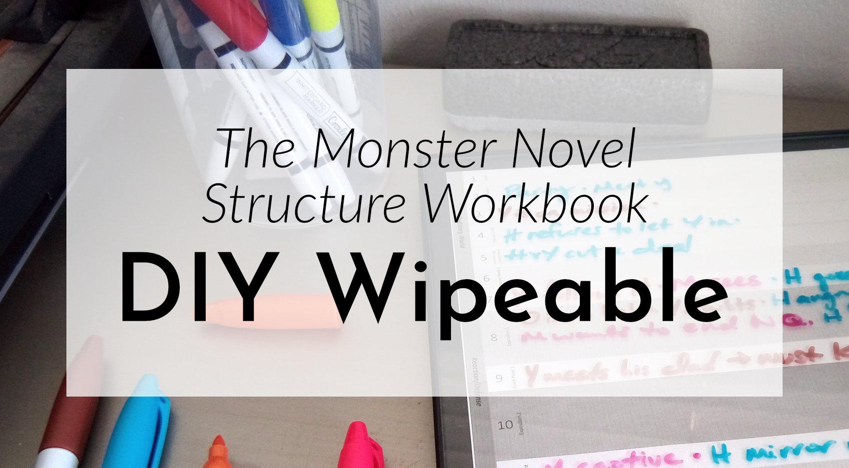 DIY a Dry Erase Monster Worksheet