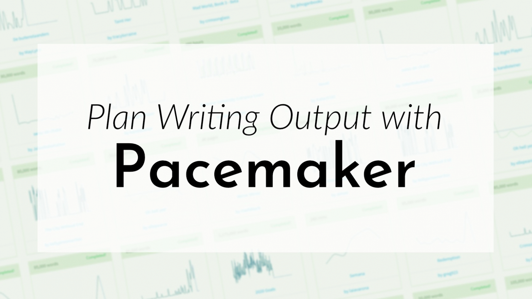 Banner: Plan writing output with Pacemaker